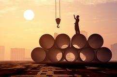 εργαζόμενοι σκιαγραφιών Στοκ Φωτογραφίες