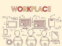 Εργαζόμενοι στον εργασιακό χώρο Στοκ φωτογραφίες με δικαίωμα ελεύθερης χρήσης