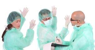 εργαζόμενοι υγειονομικής περίθαλψης ομάδας στοκ εικόνα με δικαίωμα ελεύθερης χρήσης