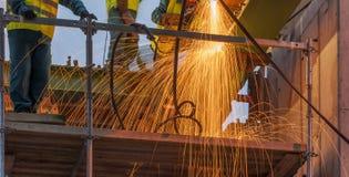 Εργαζόμενοι χάλυβα Στοκ Φωτογραφίες