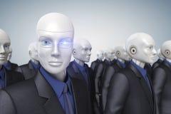 Εργαζόμενοι Cyber Στοκ Εικόνες