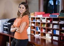 Εργαζόμενος γραφείων θηλυκών, ινδικό έθνος Στοκ φωτογραφία με δικαίωμα ελεύθερης χρήσης
