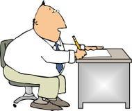 εργαζόμενος γραφείων διανυσματική απεικόνιση