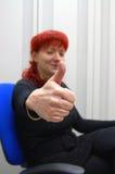 εργαζόμενος γυναικών γρ&a Στοκ φωτογραφία με δικαίωμα ελεύθερης χρήσης