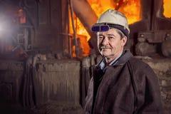 Εργαζόμενος ενός μεταλλουργικού εργοστασίου Στοκ Εικόνα