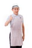 Εργαζόμενος, εργοδότης με τον αντίχειρα επάνω στη χειρονομία χεριών Στοκ φωτογραφίες με δικαίωμα ελεύθερης χρήσης