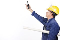 Εργαζόμενος κατασκευής και πετρελαιοφόρων περιοχών στοκ εικόνες