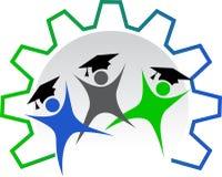 εργαζόμενος λογότυπων εκπαίδευσης διανυσματική απεικόνιση
