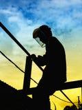 Εργαζόμενος-οξυγονοκολλητής Στοκ φωτογραφίες με δικαίωμα ελεύθερης χρήσης