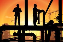 εργαζόμενος πετρελαίο&up Στοκ εικόνες με δικαίωμα ελεύθερης χρήσης