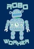 Εργαζόμενος ρομπότ. Στοκ εικόνες με δικαίωμα ελεύθερης χρήσης