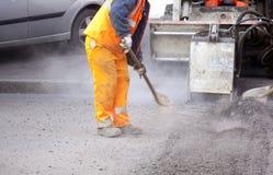 Εργαζόμενος στην οδό στοκ εικόνα