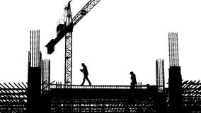 εργαζόμενος στο εργοτάξιο οικοδομής Στοκ φωτογραφία με δικαίωμα ελεύθερης χρήσης