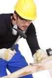 εργαζόμενος σφυριών κατ&al Στοκ εικόνα με δικαίωμα ελεύθερης χρήσης