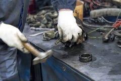 εργαζόμενος σφυριών Στοκ Φωτογραφία