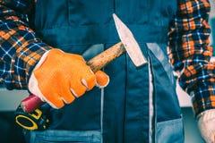 εργαζόμενος σφυριών Στοκ φωτογραφία με δικαίωμα ελεύθερης χρήσης