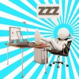 εργαζόμενος ύπνου γραφ&epsilon Στοκ φωτογραφία με δικαίωμα ελεύθερης χρήσης