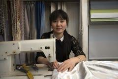 Εργαζόμενος Seamtress, Κίνα Στοκ εικόνες με δικαίωμα ελεύθερης χρήσης