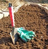 εργαλεία άνοιξη κηπουρικής Στοκ Εικόνα