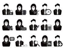 εργαλεία ανθρώπων γραφείων επιχειρησιακών εικονιδίων Στοκ Εικόνες