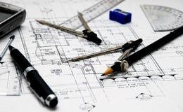 εργαλεία αρχιτεκτόνων s Στοκ φωτογραφία με δικαίωμα ελεύθερης χρήσης
