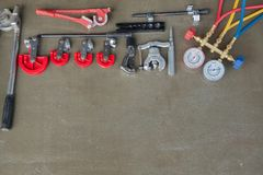 Εργαλεία για HVAC στοκ φωτογραφία