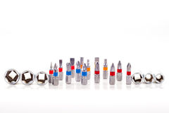 Εργαλεία δυαδικών ψηφίων που απομονώνονται στο λευκό Στοκ Εικόνες