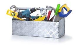 εργαλεία εργαλειοθηκών εργαλείων κιβωτίων Στοκ Φωτογραφία