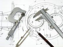 εργαλεία εφαρμοσμένης μηχανικής Στοκ φωτογραφία με δικαίωμα ελεύθερης χρήσης