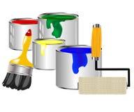 εργαλεία ζωγραφικής χρ&omega διανυσματική απεικόνιση