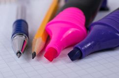 Εργαλεία και χαρτικά γραφείων στοκ φωτογραφία με δικαίωμα ελεύθερης χρήσης