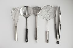 Εργαλεία κουζινών ανοξείδωτου στοκ εικόνες με δικαίωμα ελεύθερης χρήσης
