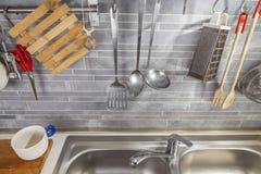 Εργαλεία κουζινών από ανωτέρω Στοκ φωτογραφία με δικαίωμα ελεύθερης χρήσης