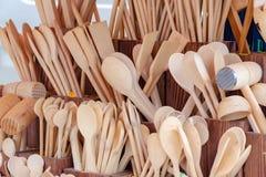 εργαλεία κουζινών ξύλινα Στοκ φωτογραφία με δικαίωμα ελεύθερης χρήσης