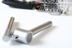 εργαλεία κουζινών σκόρδ&o Στοκ φωτογραφίες με δικαίωμα ελεύθερης χρήσης