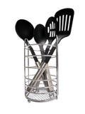 Εργαλεία κουζινών στο λευκό στοκ εικόνα