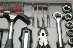 εργαλεία κουτιών εργαλείων διάφορα Στοκ Εικόνες