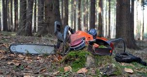 εργαλεία κρανών αλυσιδοπριόνων Στοκ Φωτογραφίες