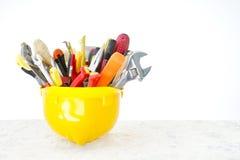 εργαλεία κρανών κατασκευής Στοκ Εικόνα