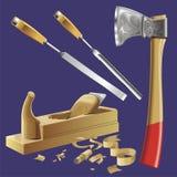Εργαλεία ξυλουργού διανυσματική απεικόνιση