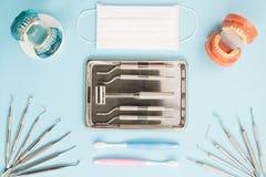 Εργαλεία οδοντιάτρων και orthodontic Στοκ φωτογραφία με δικαίωμα ελεύθερης χρήσης