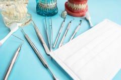 Εργαλεία οδοντιάτρων και orthodontic Στοκ Φωτογραφία
