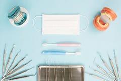 Εργαλεία οδοντιάτρων και orthodontic Στοκ Φωτογραφίες