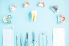Εργαλεία οδοντιάτρων και prosthodontic Στοκ φωτογραφία με δικαίωμα ελεύθερης χρήσης