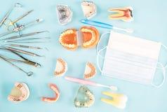 Εργαλεία οδοντιάτρων και prosthodontic Στοκ εικόνες με δικαίωμα ελεύθερης χρήσης