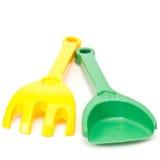Εργαλεία παιχνιδιών κήπων στο λευκό Στοκ Εικόνα
