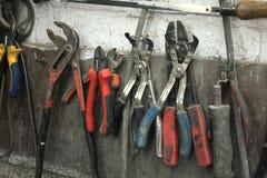 Εργαλεία σε ένα κατάστημα επισκευής Στοκ Φωτογραφία