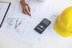 Εργαλεία στοιχείων εργασιακών χώρων για την εργασία προγράμματος, αρχιτεκτόνων ή μηχανικών Στοκ εικόνες με δικαίωμα ελεύθερης χρήσης