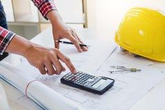 Εργαλεία στοιχείων εργασιακών χώρων για την εργασία προγράμματος, αρχιτεκτόνων ή μηχανικών Στοκ εικόνα με δικαίωμα ελεύθερης χρήσης