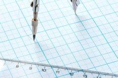 εργαλεία σχεδίων ανασκό&p Στοκ εικόνα με δικαίωμα ελεύθερης χρήσης